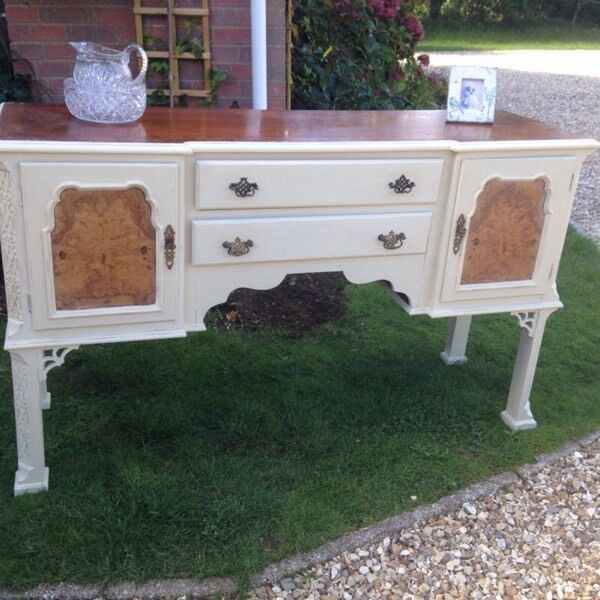 Shabby chic American Dresser/ Sideboard with locks and keys