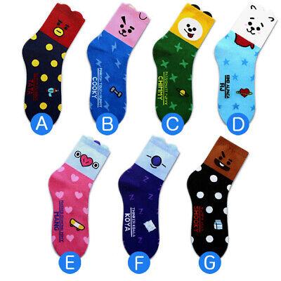 7 Pairs of socks /1 Package Fashion K-pop Boys Cute Character Sock Made in Korea