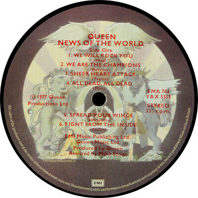 Queen - LP / album - News Of The World - 1977 UK issue