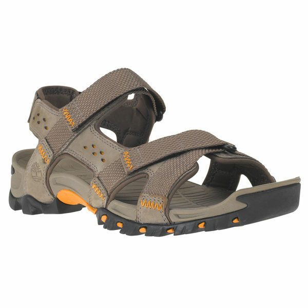 Timberland Men's Eldridge Leather Grey Sandals 5824A
