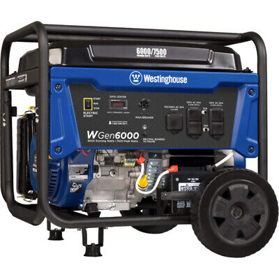 Westinghouse Wgen6000 - 6000 Watt Electric Start Portable Generator Carb