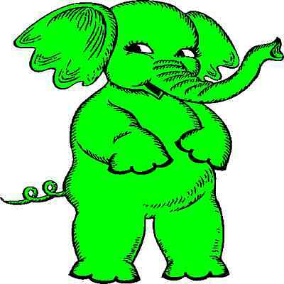 30 Custom Cute Green Elephant Personalized Address Labels Elephant Address Label
