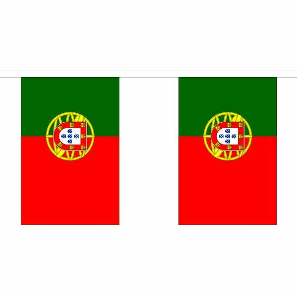 Portugal Flag Bunting - 3m 6m 9m Metre Length 10 20 30 Flags Polyester Euro 2016