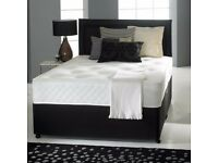 Double divan bed with mattress and free headboard
