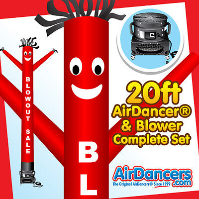 Red Blowout Sale Air Dancer  Blower 20ft Sky Dancer