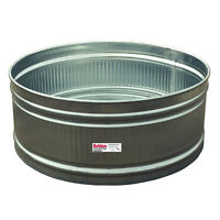 Stock tank, galvanized metal, 6 feet or more, round or wide oval