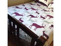 Dark Wood Double Bedstead