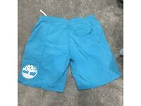 Men's Turquoise Timberland swimming shorts size L