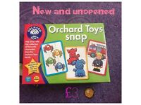 New and unopened orchard toys game snap