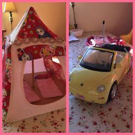 *SOLD*Barbie VW Beetle & Tent