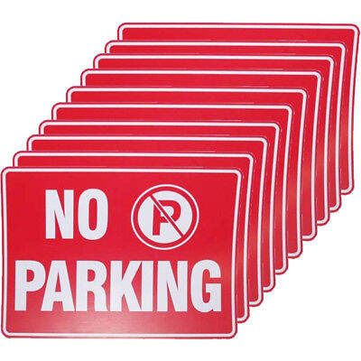 10 X No Parking Sign 9 X 12 Inch Size Durable Weatherproof Street Driveway Lot