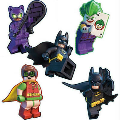 10 LEGO Shaped Batman Stickers Party Favors Teacher Supply Robin Joker Cat - Jokers Party Supplies