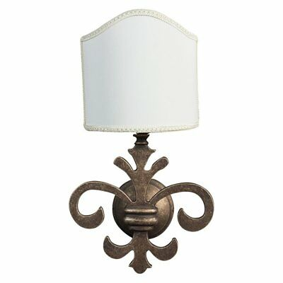 Wall Lamp Florentine Lily Fan Brass & Parchment A 1 Light E14