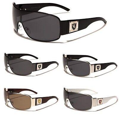 Polarized Mens Premium Aviator Sunglasses Khan Fishing Sport Glasses Black (Glasses Black And White)