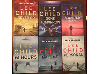 6 Hardback Jack Reacher Novels