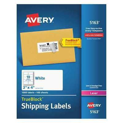 Avery Avery Shipping Label For Laser Printers 5163 Pk100 5163