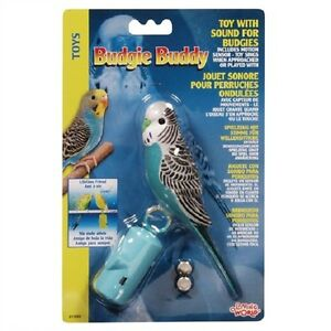 Living World Fun Budgie Buddy Plastic Singing Parakeet Bird Exercise Play Toy