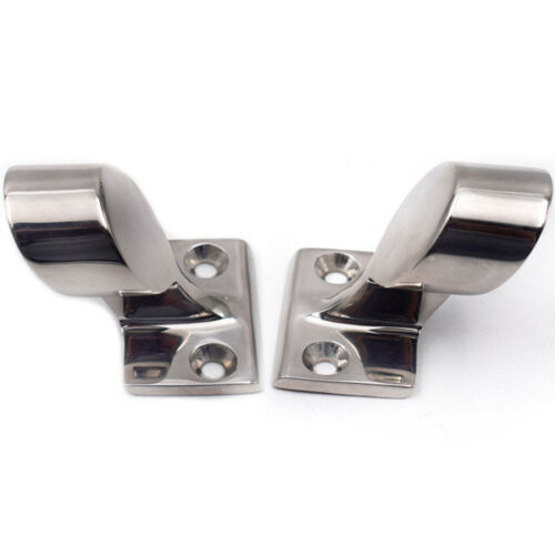 """2PCS Fits 7/8"""" After/End Stanchion 60° Hand Rail 316 Stainless Steel Marine Boat"""