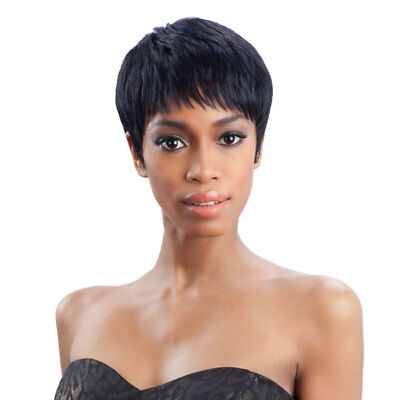 HAILEY - FREETRESS EQUAL SYNTHETIC WIG BOY CUT SHORT STRAIGHT EXOTIC COLOR PINK - Short Pink Wigs