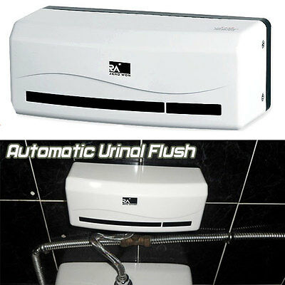 Bath Concealed Automatic Urinal Flush Infrared Sensor Valve Control AA Battery