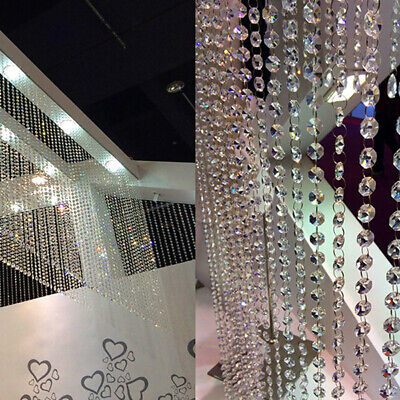 33ft/10M DIY Diamond Strand Acrylic Crystal String Beads Curtain Wedding (Acrylic String)