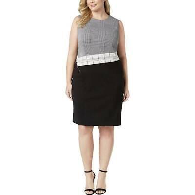 Calvin Klein Womens Size 20W Sleeveless Patchwork Sheath Dress Wear to Work $139