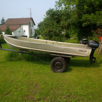 14ft boat ,motor and trailer