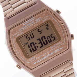 CASIO-Vintage-Retro-Digital-OLD-SKOOL-CLASSIC-Rose-Gold-B640WC-5A-B640WC-Watch