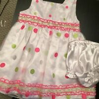 ADORABLE BABY GIRL DRESS + CARDI 18-24M
