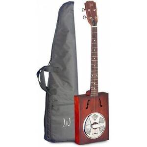 James Neligan Cask Puncheon Acoustic Cigar Box Resonator Guitar with Gig Bag