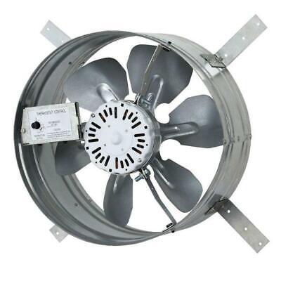 "Ventilator Fan Single Speed Gable Mount Attic Adjustable Thermostat 3.10 Amp 14"""