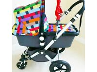 Bugaboo Chameleon with Rare Missoni Fabric Kit and Red Fabric Kit plus lots of Extras