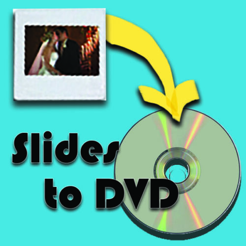 35mm Slides transferred to DVD and enhanced quality (300-350 Slides)