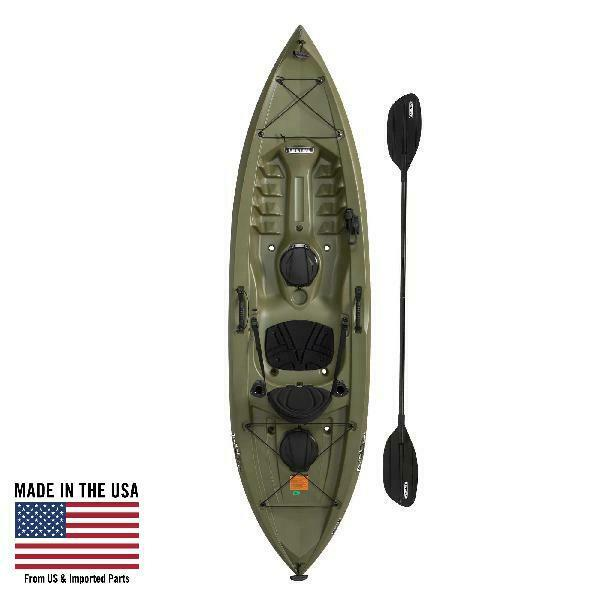 Details About Lifetime Tamarack Angler 100 Fishing Kayak Paddle Included Olive Green