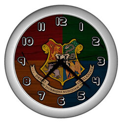 Modern Large Wall Clock Harry Potter Hogwarts Crest Home Living Room Decor