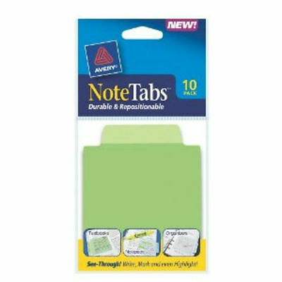 Avery Notetabs Tabs And Flags In One Cool Green 30 Count Model 16322 3 X 3 12