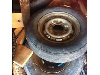 Set of 4 wheels and tyres 13 in Ivor Williams trailer