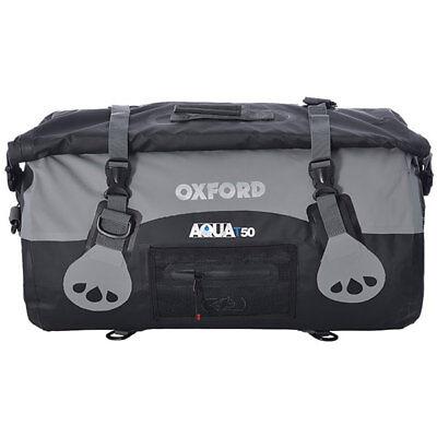 Oxford Aqua T50 Waterproof 50 Litre Roll Bag - Black / Grey