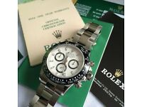 Ceramic white face daytona very famous automatic mens watch rolex chronograph function boxed