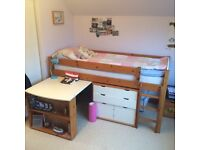 Cabin Bed, Desk and Storage Units