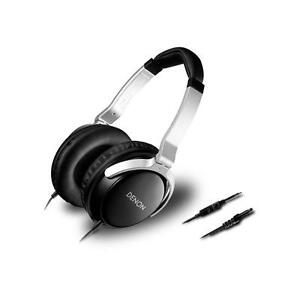 Denon AH-D510R Mobile Elite Over-Ear Headphones with In-Line Control and Mic (Bl