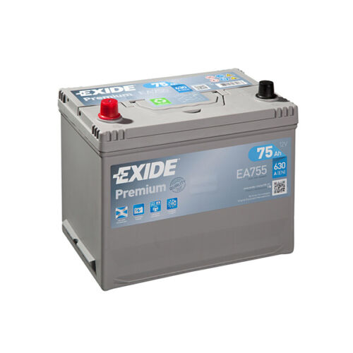 1x Exide Premium 75Ah 630CCA 12v Type 031 Car Battery 4 Year Warranty - EA755