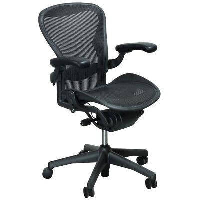 Herman Miller Aeron Office Chair Size B - Black - Fully Adjustable - 50 Pack