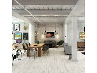 Porcelain white washed wood effect tiles 40sq meters new
