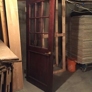 Solid Mahogany-Stained Doors
