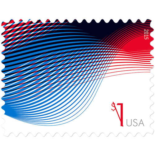 USPS New $1 Patriotic Wave Stamp Sheet of 10