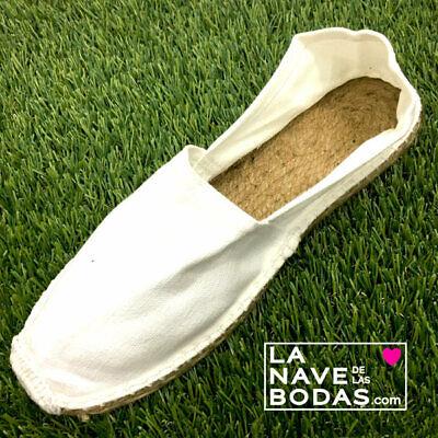 Alpargatas para Bodas Blancas 24 pares. Detalles de boda, zapatillas, esparteñas