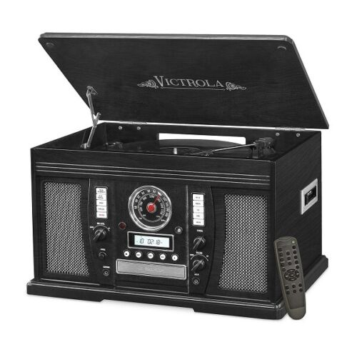 Victrola Aviator 7-in-1 Bluetooth Stereo Audio system Black VTA-750B-BLK