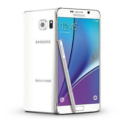 Samsung Galaxy Note 5 SM-N920 32GB White Sprint 7/10 Screen peeling Burn Image
