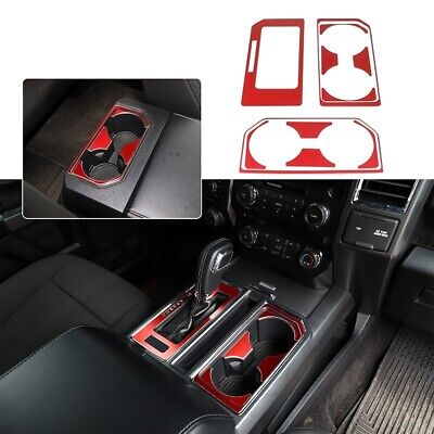 Used, Gear Shift Knob Console Panel Trims & Cup Holder Decor Cover for Ford F150 15+ for sale  Shipping to Canada